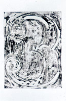 Jasper Johns etching from Foirades, Fizzles