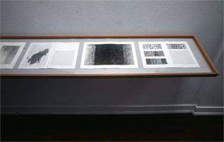 Foirades, Fizzles: Samuel Beckett/Jasper Johns installation photography, 1977