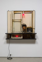 Edward & Nancy Reddin Kienholz / Drawing for the Hoerengracht No. 1, 1984 / mixed media assemblage / 49 x 55 x 11 in. (124.5 x 139.7 x 27.9 cm)