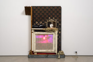 Edward & Nancy Reddin Kienholz / Drawing for the Hoerengracht No. 9, 1986 / mixed media assemblage / 63 x 45 x 13 in. (160 x 114.3 x 33 cm)