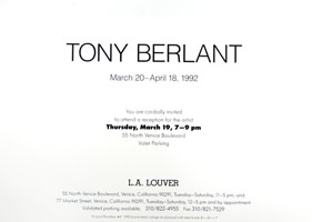 Tony Berlant announcement, 1992