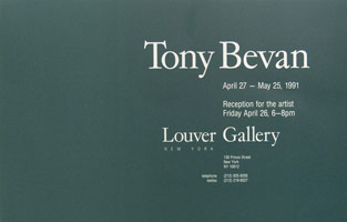 Tony Bevan announcement, 1991