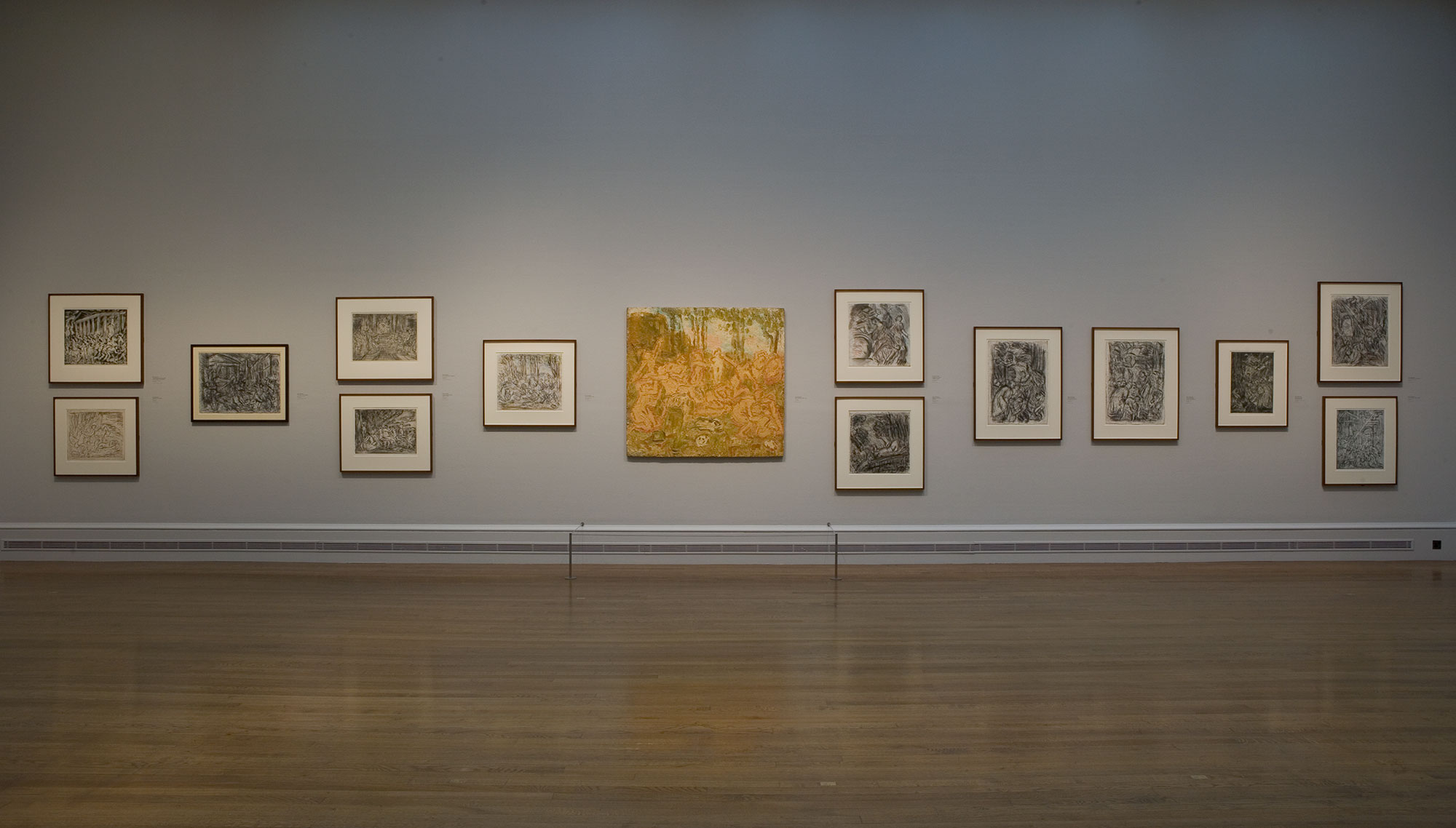 Installation-view-Leon-Kossoff-Drawing-from-Painting-National-Gallery-London-2007