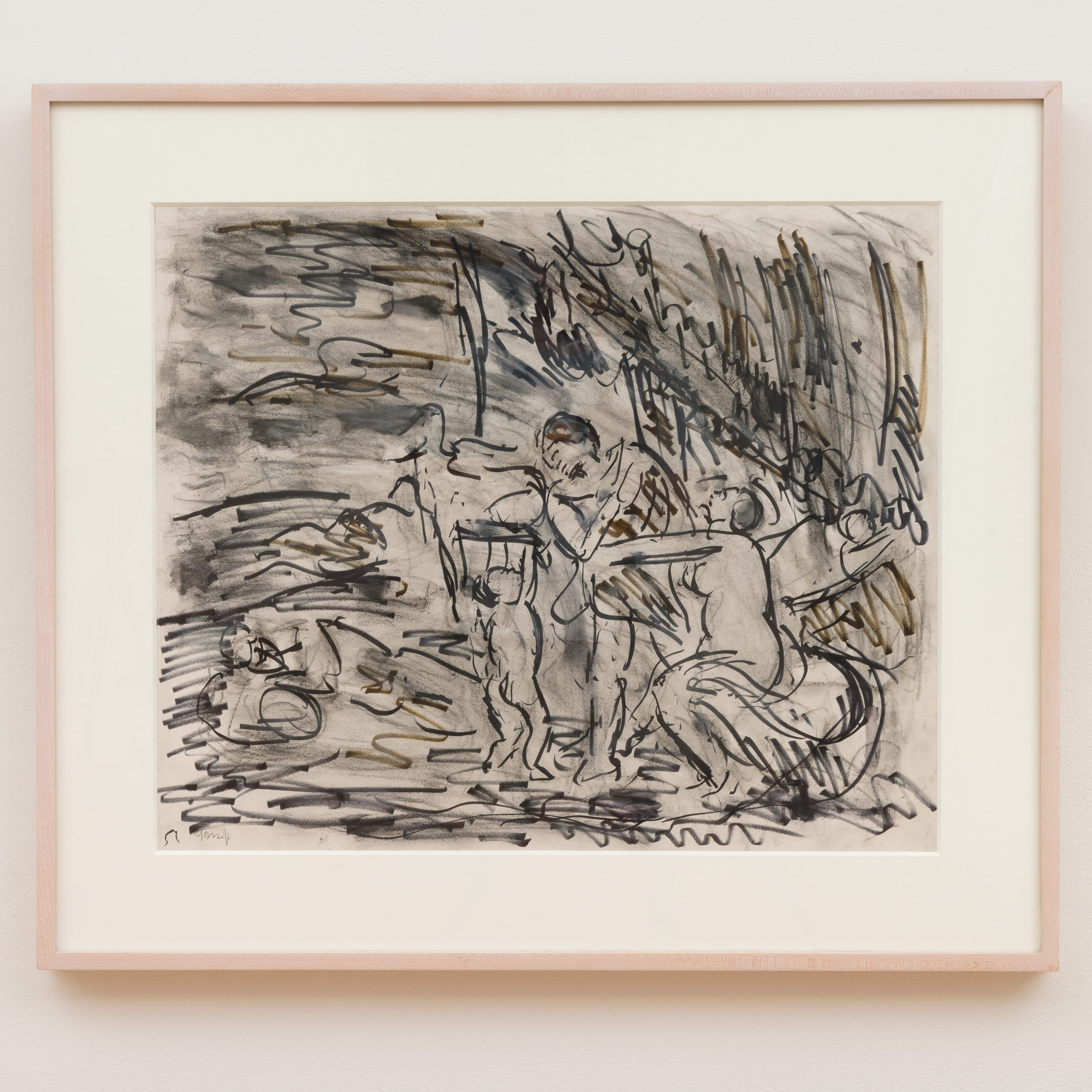 Leon Kossoff Cephalus and Aurora after Poussin